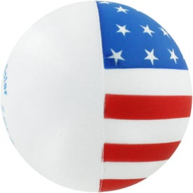 Flag Ball Stress Reliever for Advertising