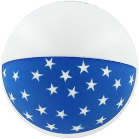 Imprinted Flag Ball Stress Reliever