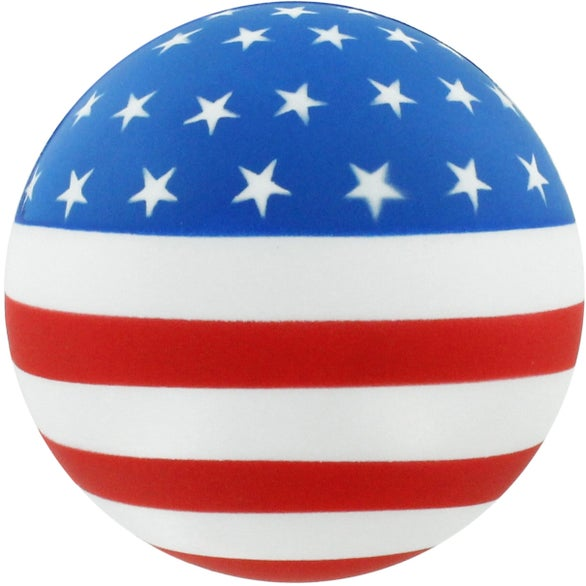 American Flag Flag Ball Stress Reliever