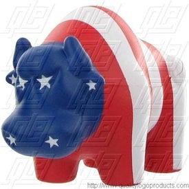 Personalized Patriotic Bull Stress Ball