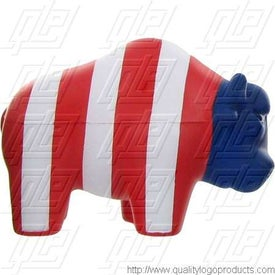 Patriotic Bull Stress Ball Printed with Your Logo