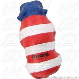 Patriotic Bull Stress Ball for Customization