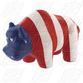 Patriotic Bull Stress Ball