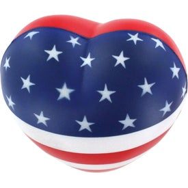 Flag Heart Stress Reliever Giveaways