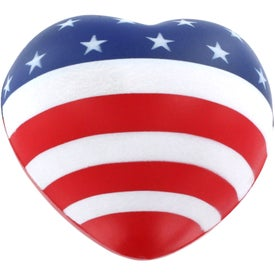 Flag Heart Stress Reliever for Advertising