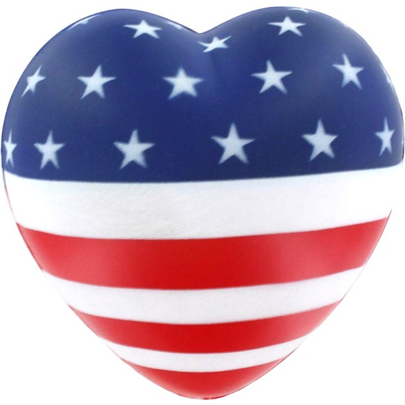 American Flag Flag Heart Stress Reliever