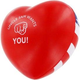 Patriotic Heart Stress Ball for Marketing