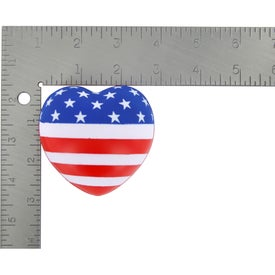Monogrammed Patriotic Heart Stress Ball