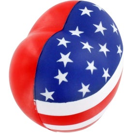 Patriotic Heart Stress Ball for your School