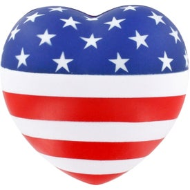 Patriotic Heart Stress Balls