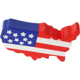 US Map Stress Ball for Promotion