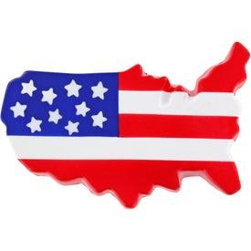 US Map Stress Ball