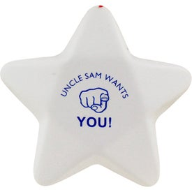 Imprinted Patriotic Star Stress Ball