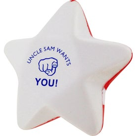Patriotic Star Stress Ball Imprinted with Your Logo