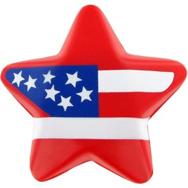 Imprinted Patriotic Star Stress Ball