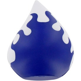 Monogrammed Flaming Droplet Stress Ball