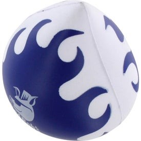Promotional Flaming Droplet Stress Ball