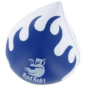 Flaming Droplet Stress Ball Branded with Your Logo