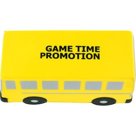 Printed Flat Front School Bus Stress Ball