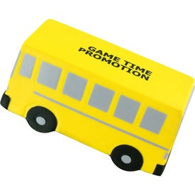 Flat Front School Bus Stress Ball Printed with Your Logo
