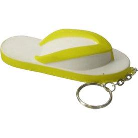 Personalized Flip Flops Key Chain