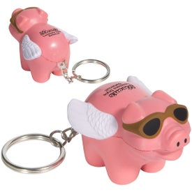 Flying Pig Stress Ball Key Chain