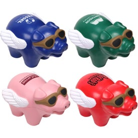 Logo Flying Pig Stress Ball