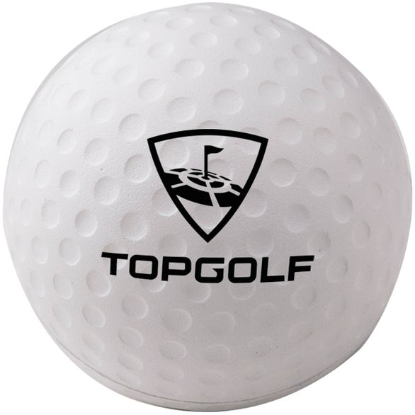 White Foam Golf Ball Stress Reliever