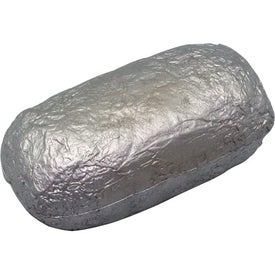 Printed Baked Potato/Burrito in Foil Stress Reliever