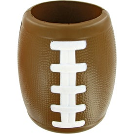 Printed Football Bottle Holder Stress Toy
