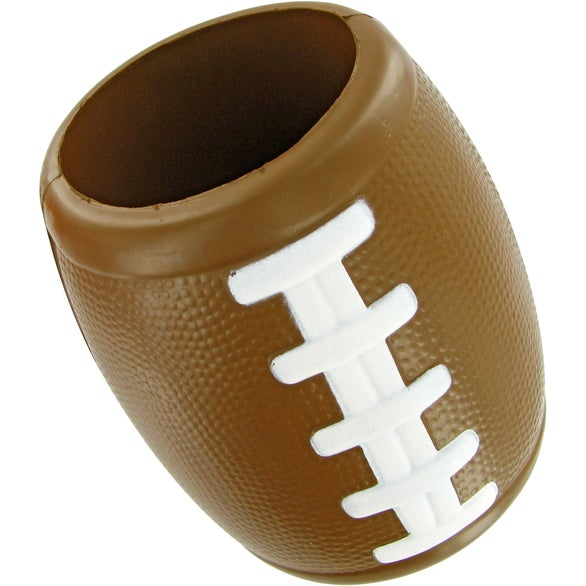 Brown Football Bottle Holder Stress Toy