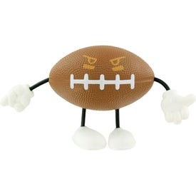 Imprinted Football Figure Stress Ball