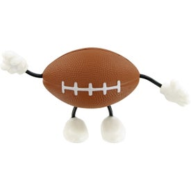 Football Figure Stress Toy Imprinted with Your Logo