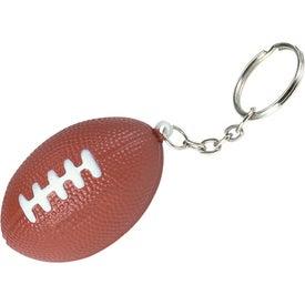 Logo Football Key Chain Stress Ball