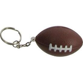 Promotional Football Key Chain Stress Ball