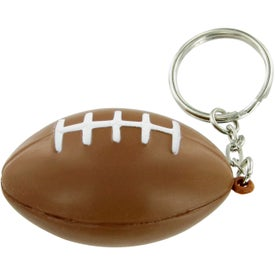 Football Keychain Stress Toy Imprinted with Your Logo