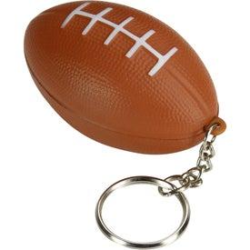 Branded Football Keychain Stress Toy