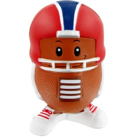 Custom Football Mad Cap Stress Toy