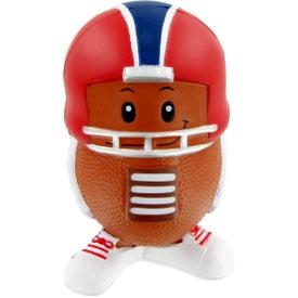 Custom Football Mad Cap Stress Toy