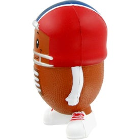 Imprinted Football Mad Cap Stress Toy