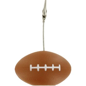 Personalized Football Memo Holder Stress Ball