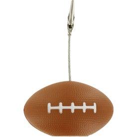 Personalized Football Memo Holder Stress Ball