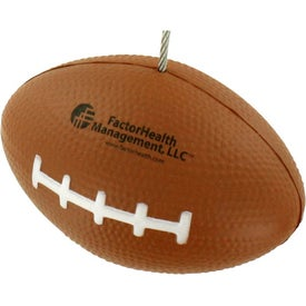 Custom Football Memo Holder Stress Ball
