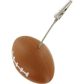 Football Memo Holder Stress Ball Giveaways