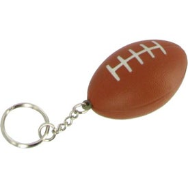 Football Stress Reliever Key Ring Printed with Your Logo