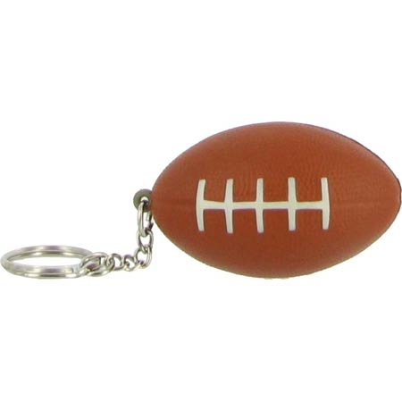 Brown Football Stress Reliever Key Ring