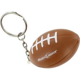 Imprinted Football Key Chain Stress Ball