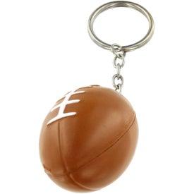 Monogrammed Football Key Chain Stress Ball