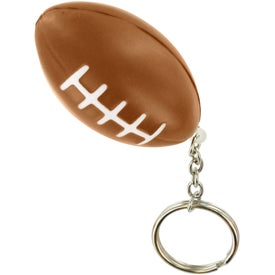 Football Key Chain Stress Ball with Your Slogan