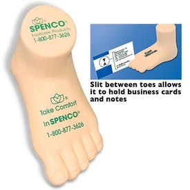 Printed Foot Stress Reliever and Card Holder